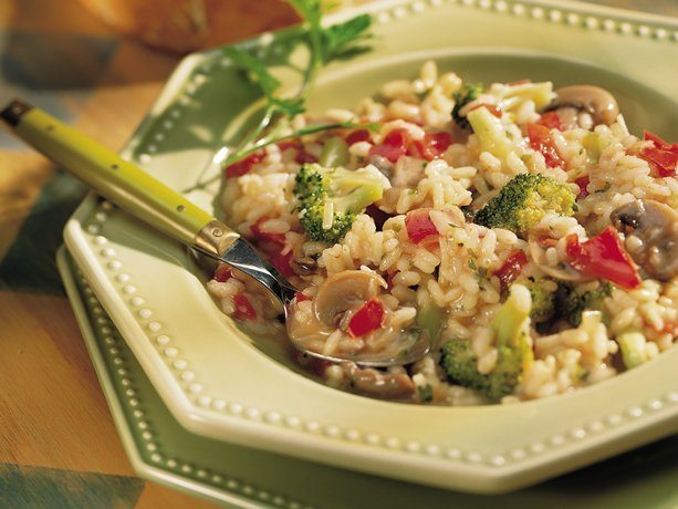 Red Pepper and Brocolli Risotto
