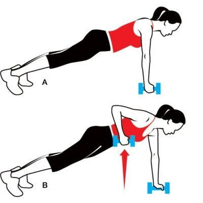 Push-Up Row